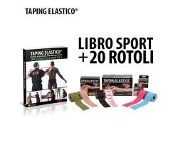 Taping Elastico Sport Libro + 20 Rotoli