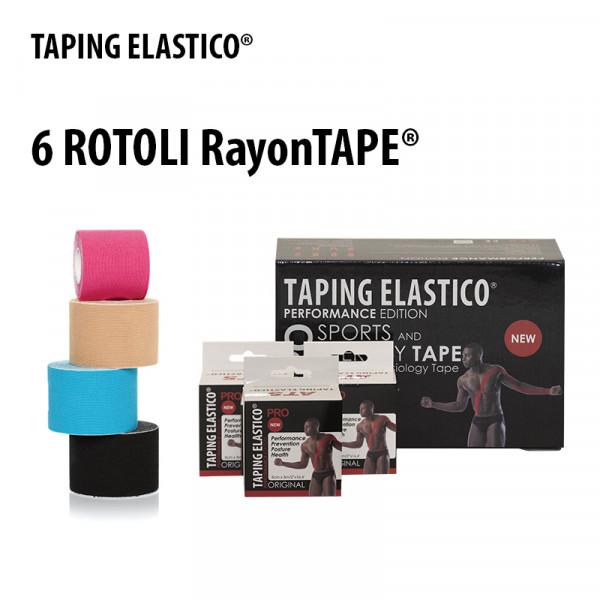 PromoPack 6 Rotoli RayonTape® - Taping Elastico®